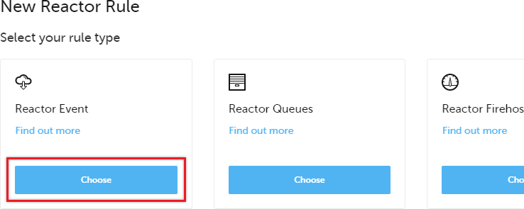 Select the Reactor Event option